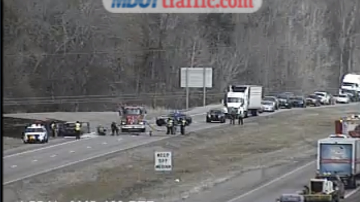 Vehicle fire on I-55 SB in Madison County