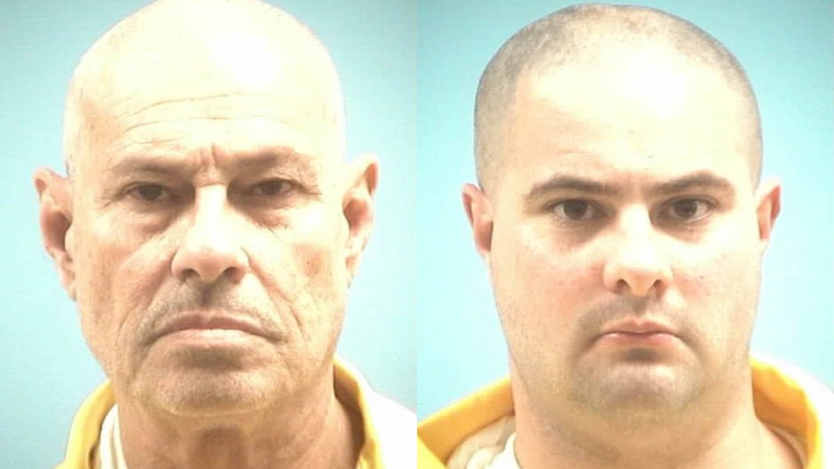 Audy McCool, pictured left, and his son Michael McCool, right, are currently serving sentences...