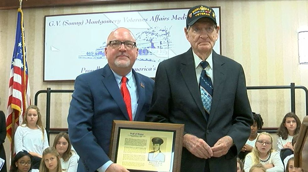 Billy Byrd being honored at the VA Medical Center