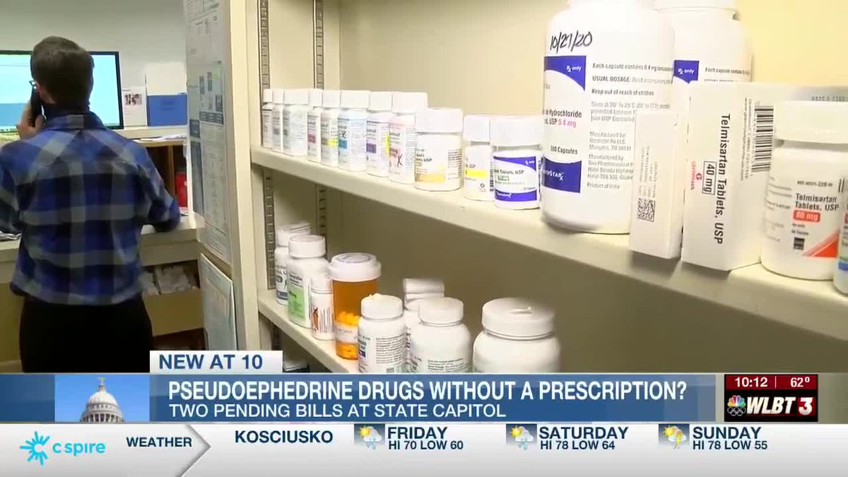 Mississippi lawmakers consider doing away with prescription requirement on pseudoephedrine
