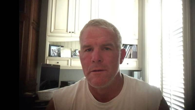 Favre recorded a message of hope for the people living at The Blake in Flowood.