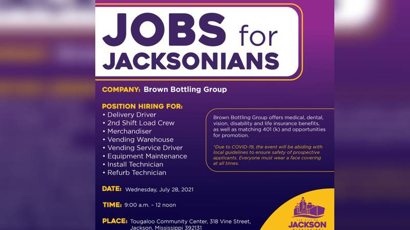 Brown Bottling Group is partnering with the Jobs for Jacksonians program to host a job fair on...
