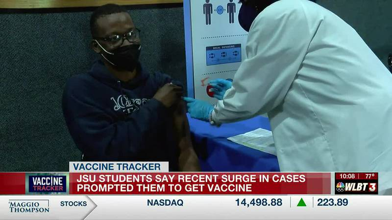 Some JSU students say recent surge in COVID-19 cases prompted them to get vaccinated