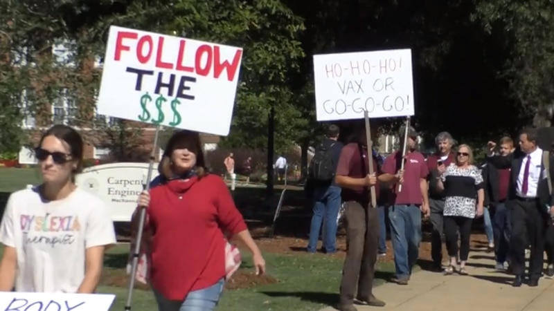 Some MSU employees protest as university set to require vaccine for faculty, staff
