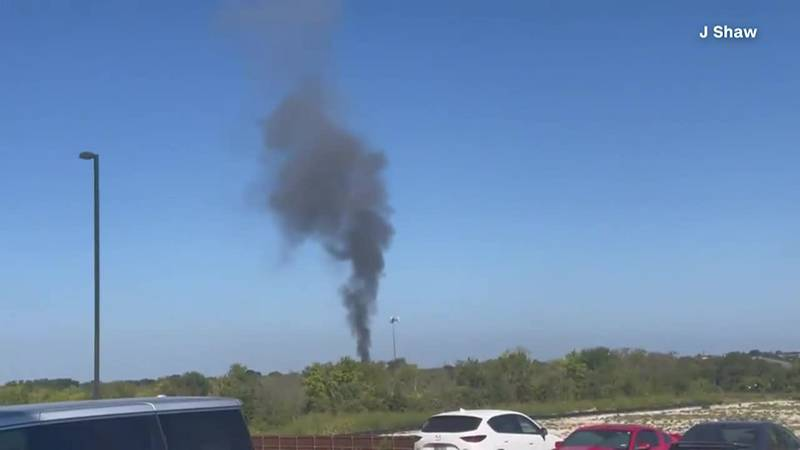 A military aircraft crashed in Lake Worth, Texas.