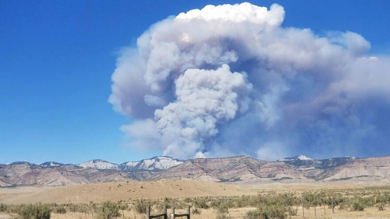 The Pine Gulch fire is burning near Grand Junction, Colorado.