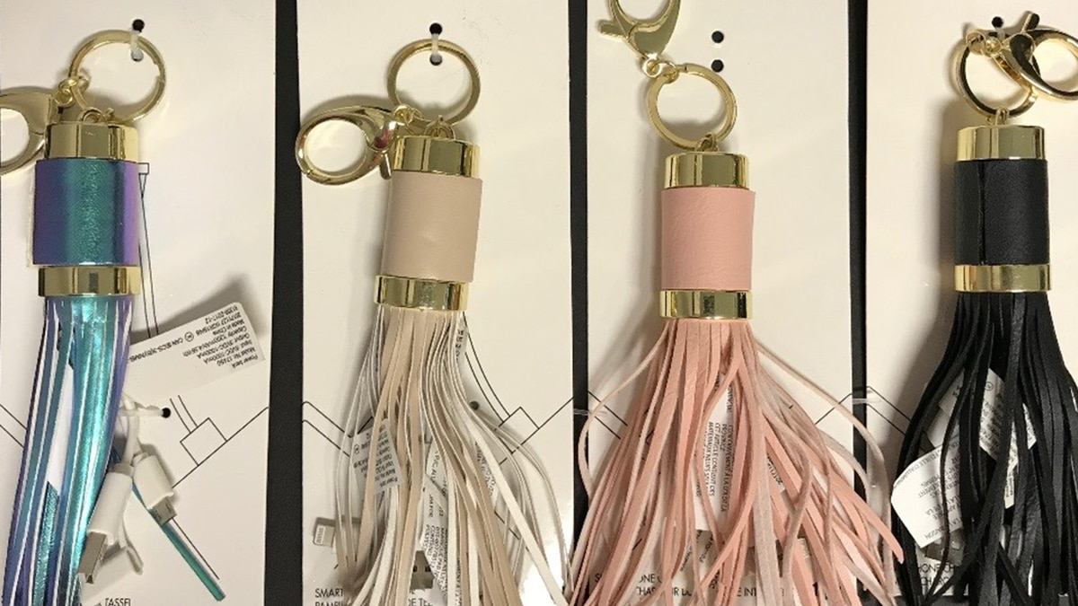 Bead Landing™ tassel keychain mobile power banks are being recalled because the lithium ion...