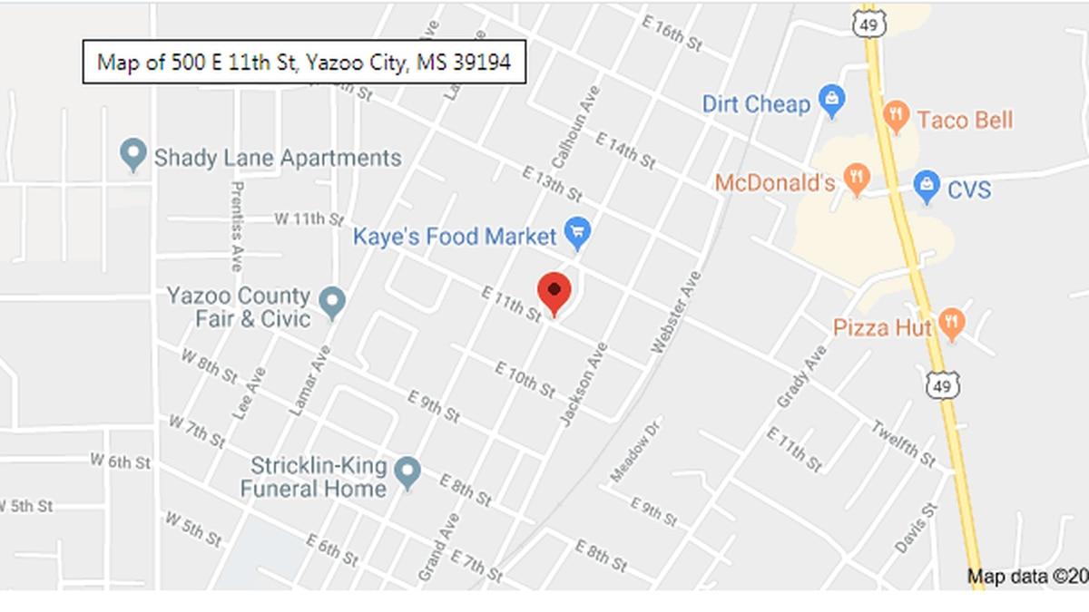A body was found overnight near Jackson Avenue in Yazoo City.