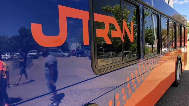 The new-look JTRAN buses were revealed Thursday.