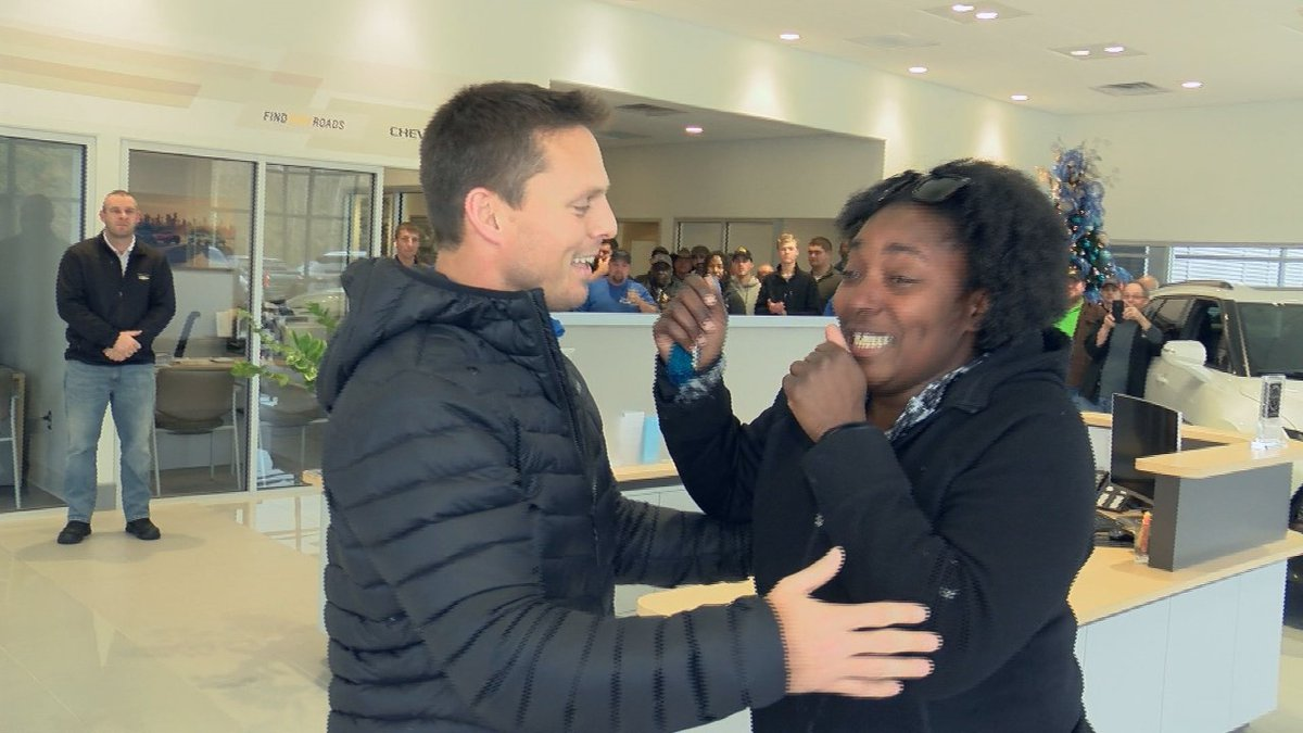 Pine Belt Chevrolet presented Tonieria Robinson with the keys to a car as part of their annual...