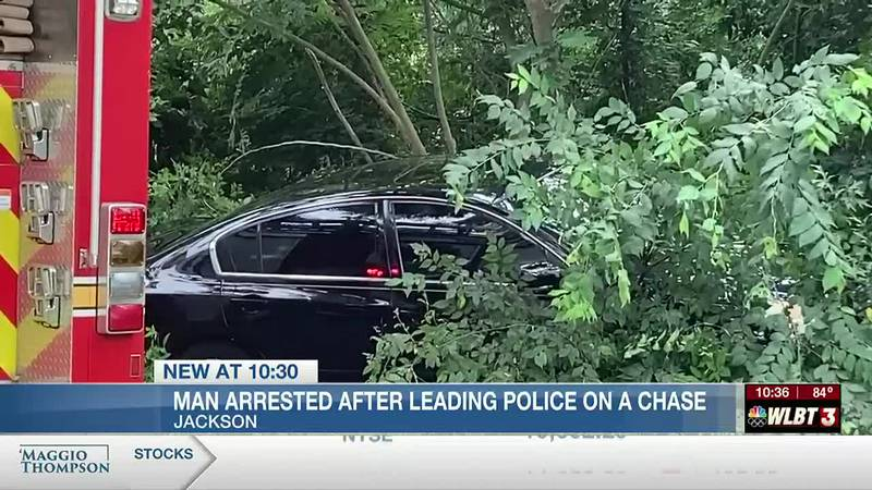 Police chase ends in Jackson.