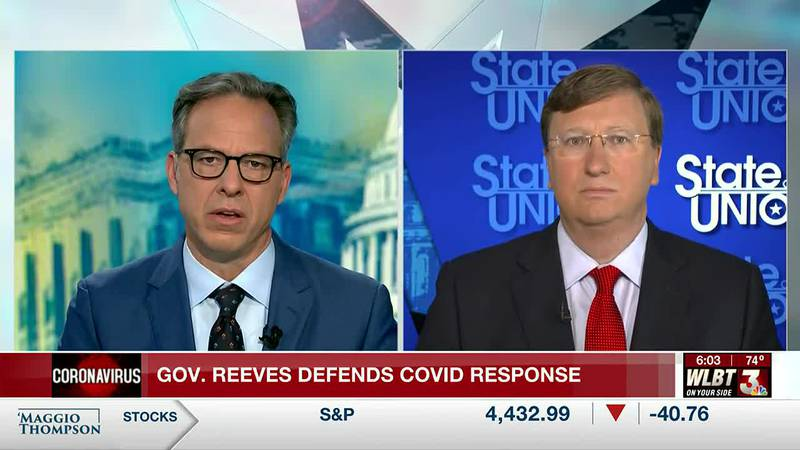 'Your way is failing': Reeves downplays virus deaths in contentious CNN interview