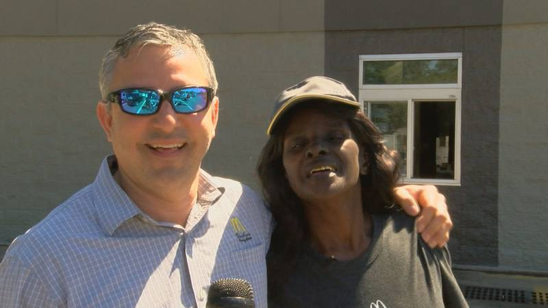 Ocean springs McDonald's manager Rommel Peters talks about his customers' favorite employee,...