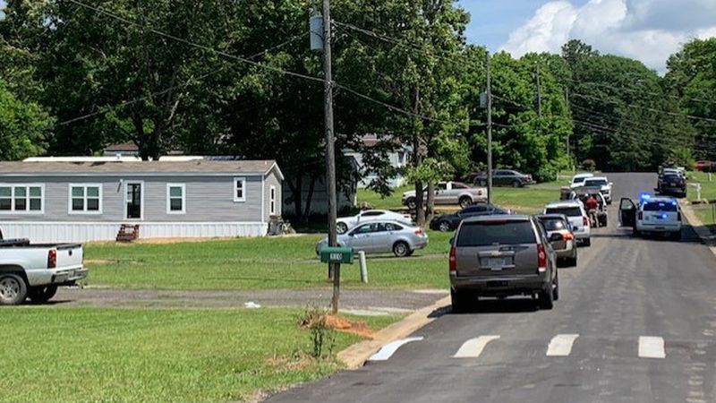 A child was shot at a home in the Maylene Community.