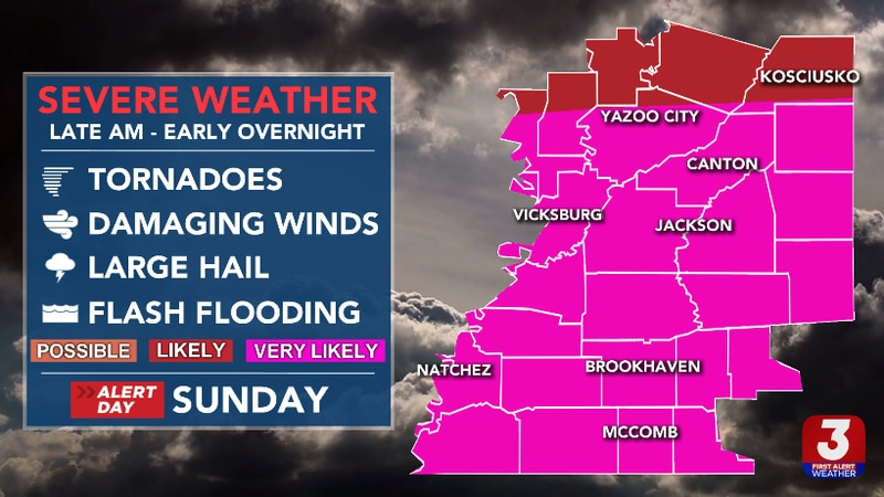 Strong to Severe Storms Likely Sunday