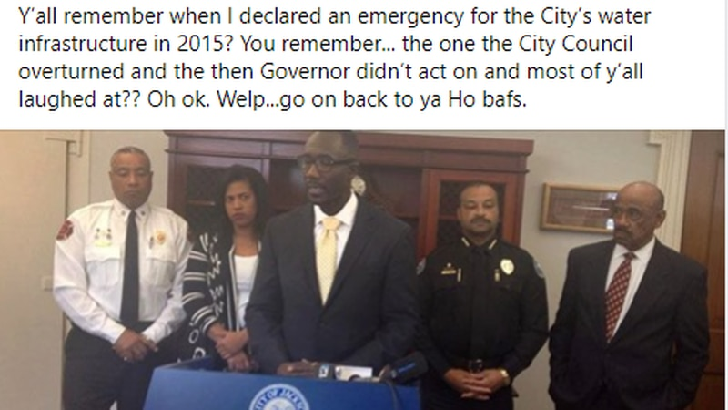 Former Jackson Mayor Tony Yarber speaks out on city's latest water crisis.
