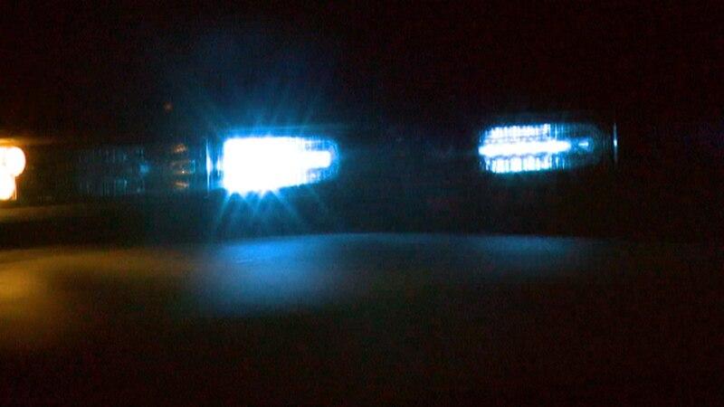 Police lights on vehicle.