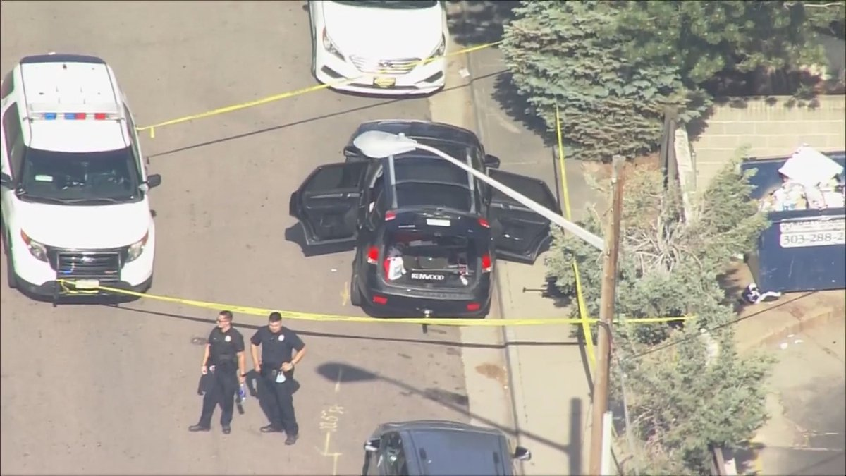 Aerial footage of the scene in Denver where an abducted toddler was located.  Police say the...