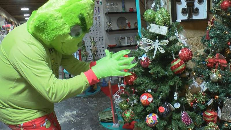 WLOX captured some exclusive photos of the Grinch in action around Pascagoula.