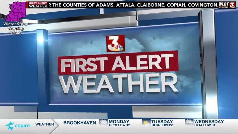 ALERT DAY: freezing rain, sleet and snow cause major disruptions in Mississippi