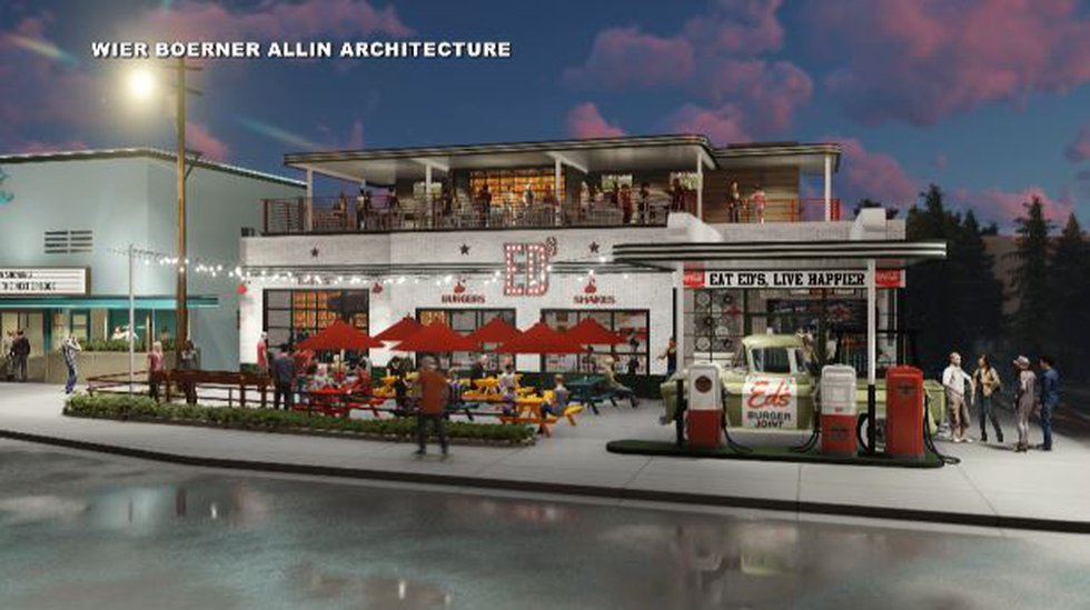 Rendering of Ed's Burger Joint