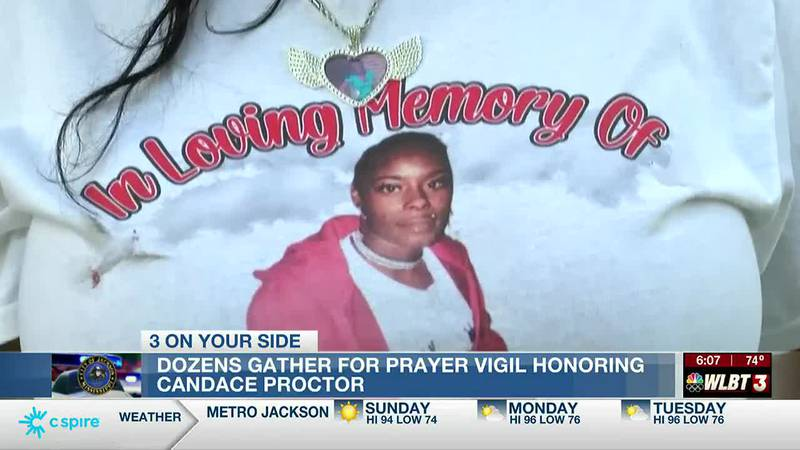Family and friends hold vigil for Candace Proctor as police still search for her killer