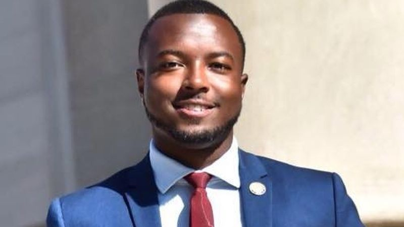 Jeramey Anderson kicked off his campaign tour Sunday in Moss Point.