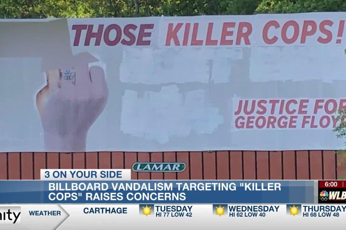 Vandalized I 55 Billboard Targets Killer Cops With Profanity References Justice For George Floyd