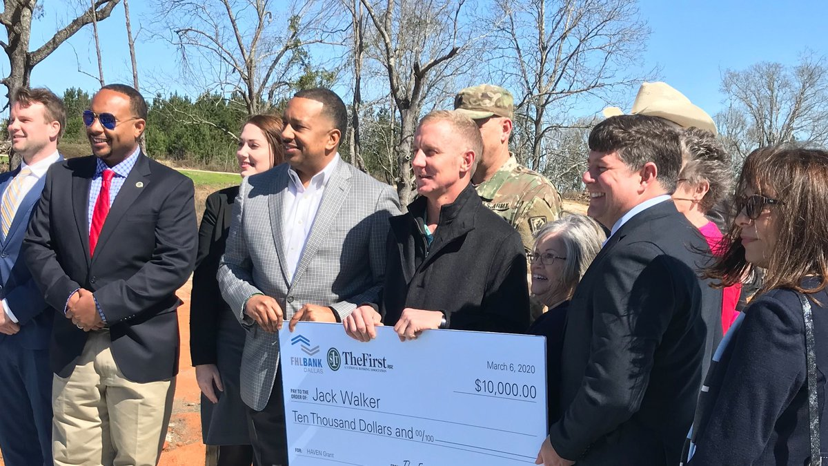 The Federal Home Loan Bank of Dallas and The First presented Miss. National Guard veteran Jack...
