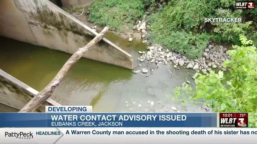 Jackson advises of Eubanks Creek sewage issue days after leak spotted
