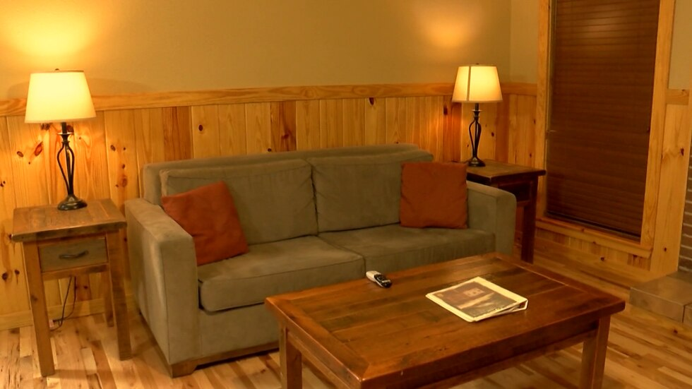 Inside the state park rooms in Wynne, Arkansas.