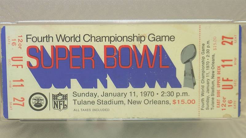 A look at one of the Super Bowl IV tickets Jim Walker found in his parent's attic in the days...