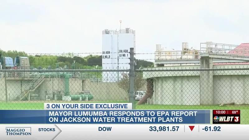 Lumumba responds to EPA report on Jackson water treatment plants