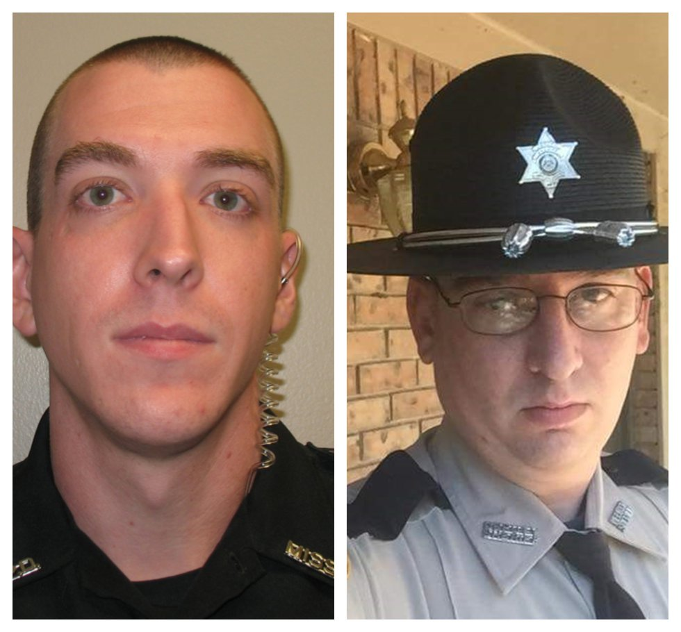 Brookhaven police Corporal Zack Moak and Patrolman James White were killed this morning while...