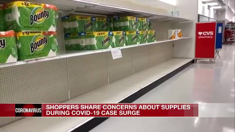 Shoppers not concerned with bare shelves become they say it's happening nationwide