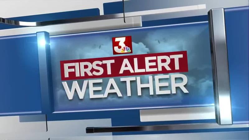 First Alert Forecast: cold, blustery & rainy Thursday