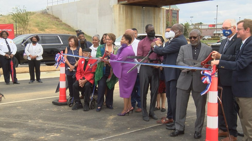 Tougaloo President Dr. Carmen Walters and former President Beverly Wade Hogan were the first to...