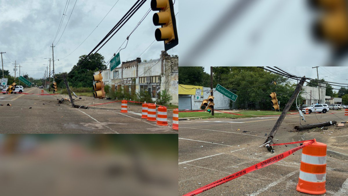 Wreck on Bailey Ave. knocks out power, blocks traffic