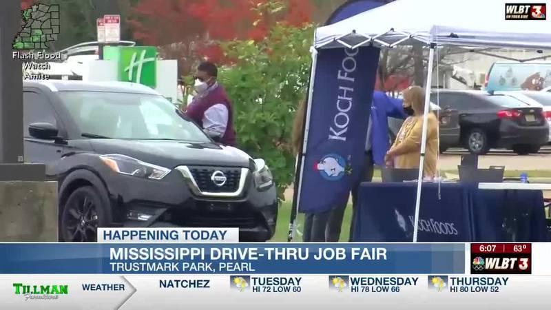 State hosts drive-thru job fair in Pearl Tues.