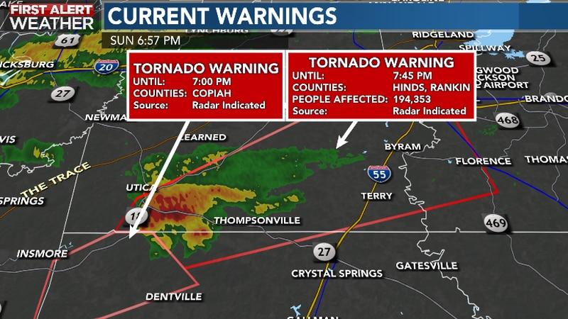 Tornado Warning for Hinds and Rankin County