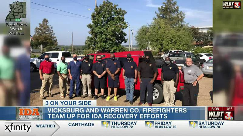 Mississippi firefighters come to the aid of those affected by Hurricane Ida in Louisiana