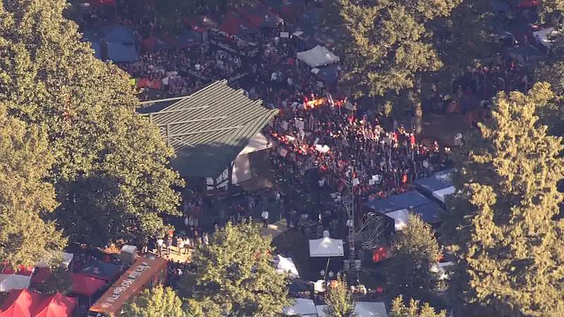 Fans gathered at The Grove on Saturday morning for ESPN's College GameDay.