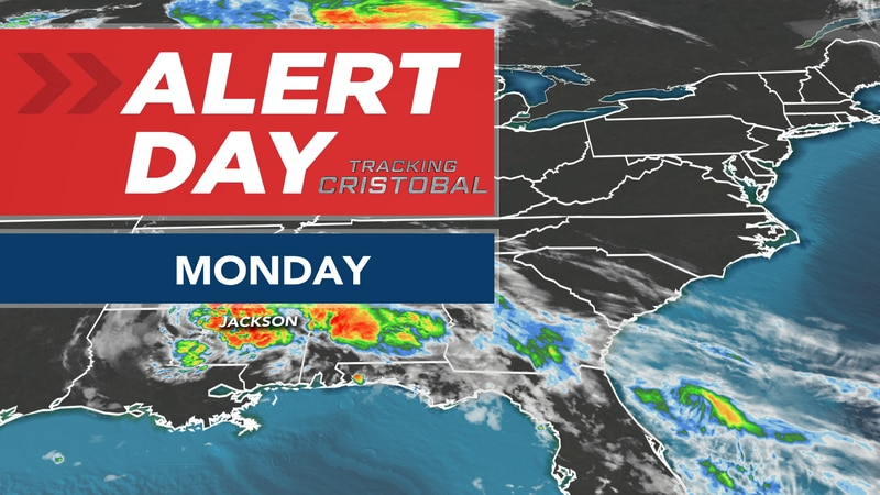 Tropical Depression Cristobal continues to bring local impacts to start the work week...