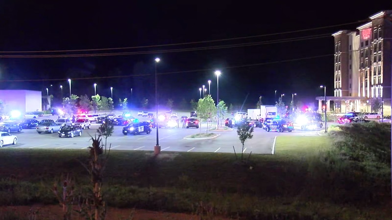 Several area police departments responded Thursday night to Pinecrest Mall.