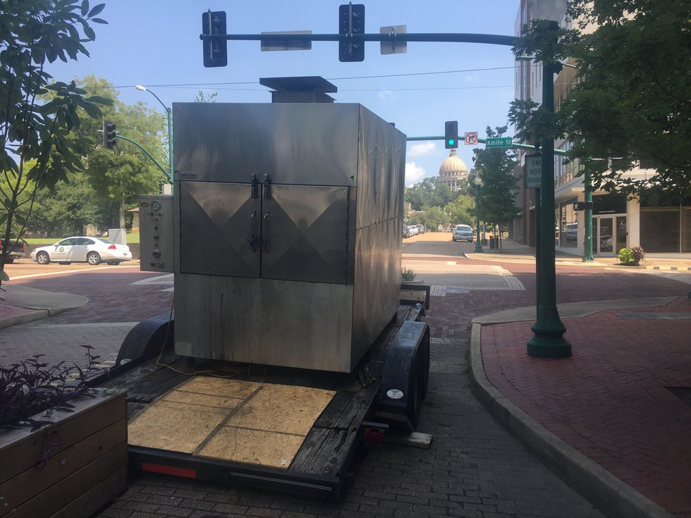 Jackson city officials say the location of one of a kind smoker, which can hold 700 slabs of...