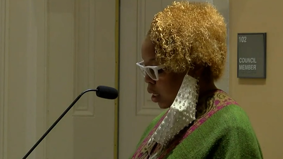 City Attorney Monica Allen has submitted her resignation to the city. She is speaking here at a...