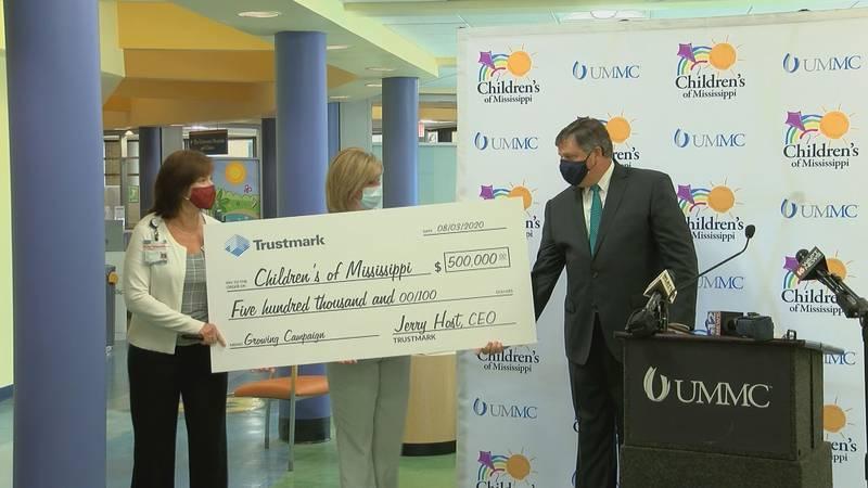 Trustmark Bank donates $500,000 to Children's of Mississippi.