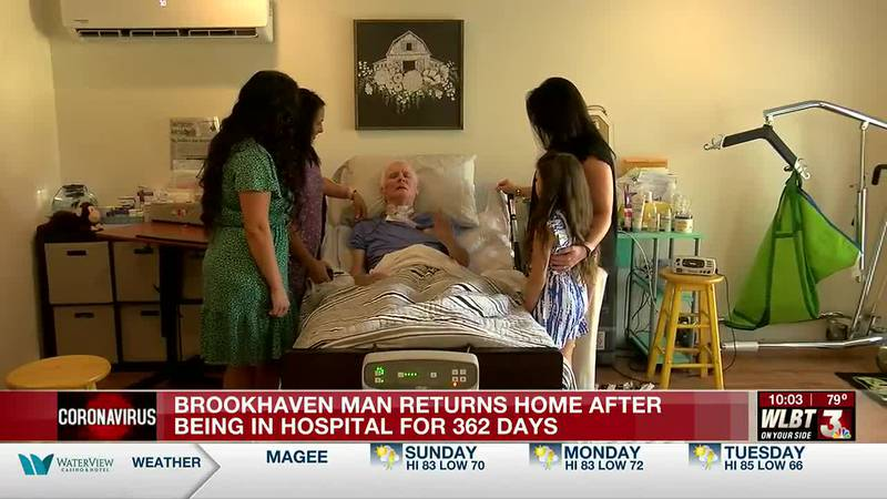 After being hospitalized for 362 days, Brookhaven man finally returns home, family says the...