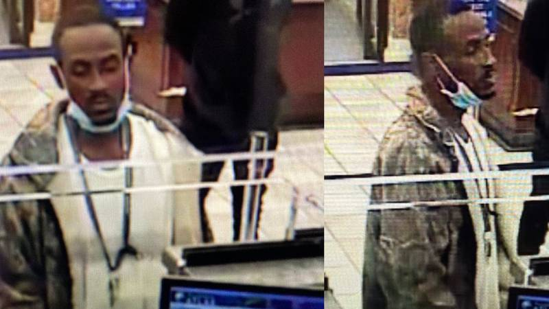 Suspect wanted for bank robbery