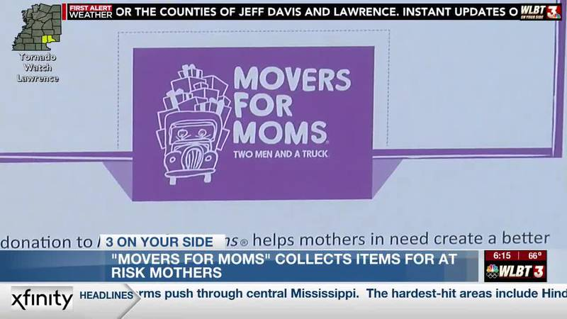 Local moving company collects items for battered women during 'Movers for Moms' campaign